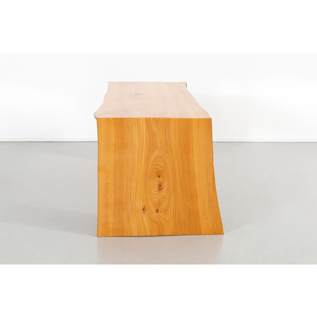 2010s Contemporary It Elmwood Bench For Sale - Image 5 of 12