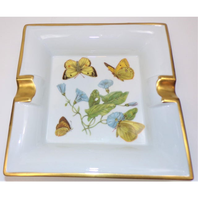 Vintage Hermes Style Butterfly Ashtray With Suede Bottom For Sale - Image 9 of 13