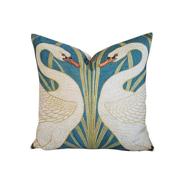Swans Linen & Down/Feather Pillows - Pair - Image 3 of 8