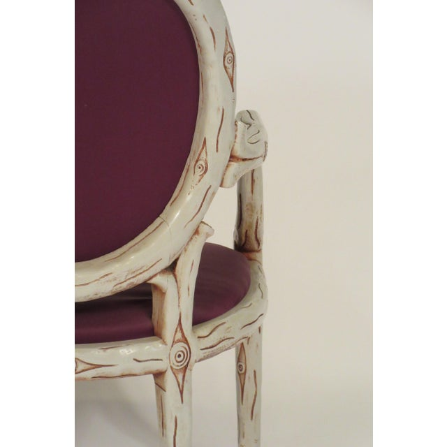 Traditional 1960s Vintage Faux Bois Dining Chairs- Set of 6 For Sale - Image 3 of 13