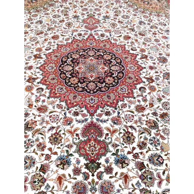 "Pasargad Persian Tabriz Silk & Wool Rug - 9'11"" X 13' 0"" For Sale - Image 4 of 5"