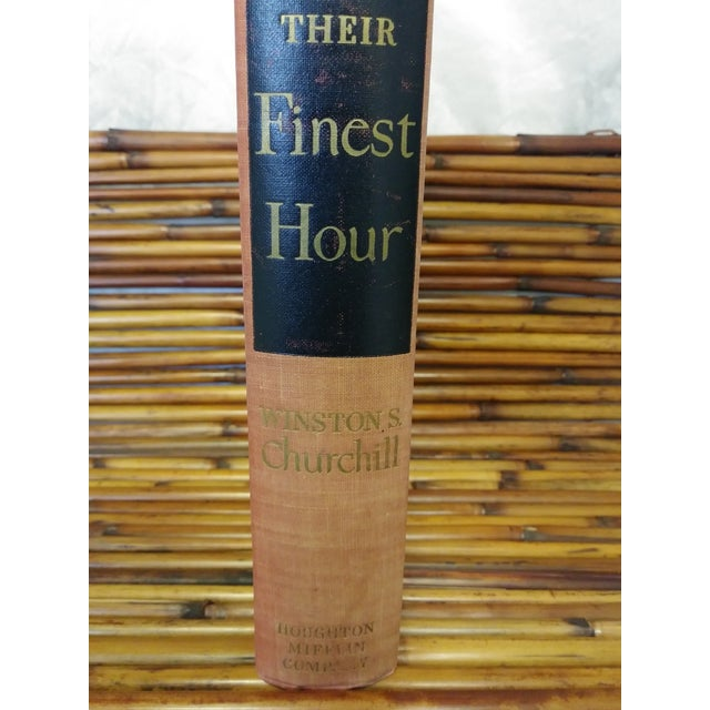 """Americana """"The Second World War-Their Finest Hour"""" by Winston S. Churchill For Sale - Image 3 of 13"""
