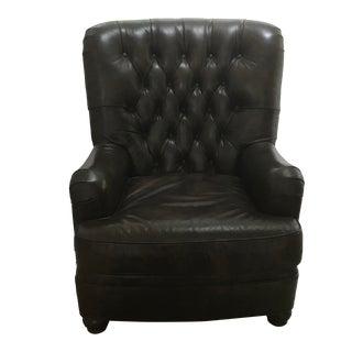 Pottery Barn Tufted Leather Armchair