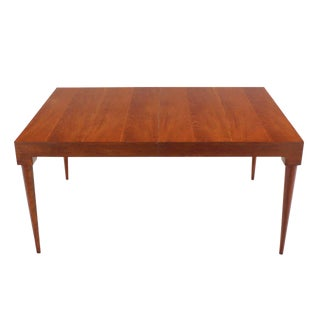 American Mid-Century Modern Teak Dining Table with Two Leaves For Sale