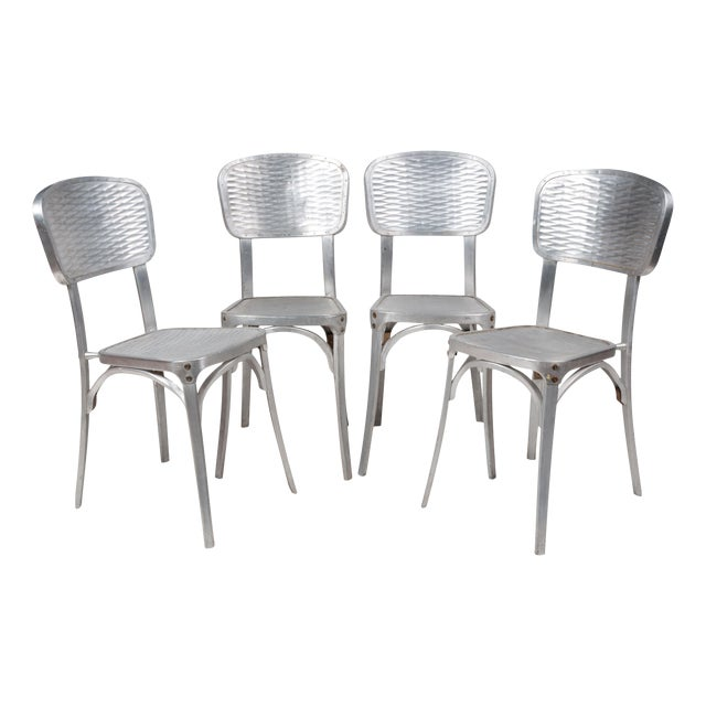 Gaston Viort Aluminum Chairs - Set of 4 For Sale
