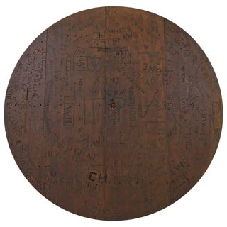 1800s Stanford University Carved in Charlie Meyers Bar Table Top