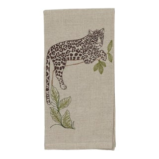 Jaguar Perch Tea Towel For Sale