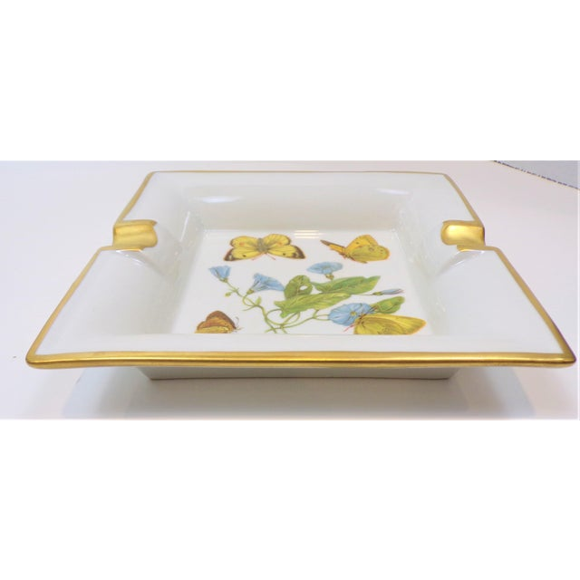 1970s Vintage Hermes Style Butterfly Ashtray With Suede Bottom For Sale - Image 5 of 13