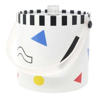 1980's Postmodern Geometric Shapes Ice Bucket For Sale