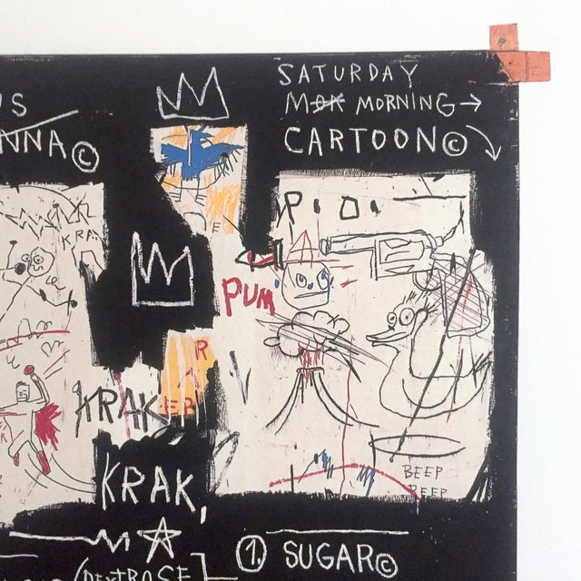 "Jean Michel Basquiat Jean Michel Basquiat Original Pop Art Lithograph Print ""Panel of Experts"", 1982 For Sale - Image 4 of 11"