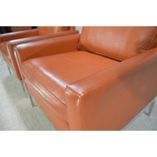 Nicos Zographos Nicos Zographos Soft Leather Club Lounge Chairs - a Pair For Sale - Image 4 of 6