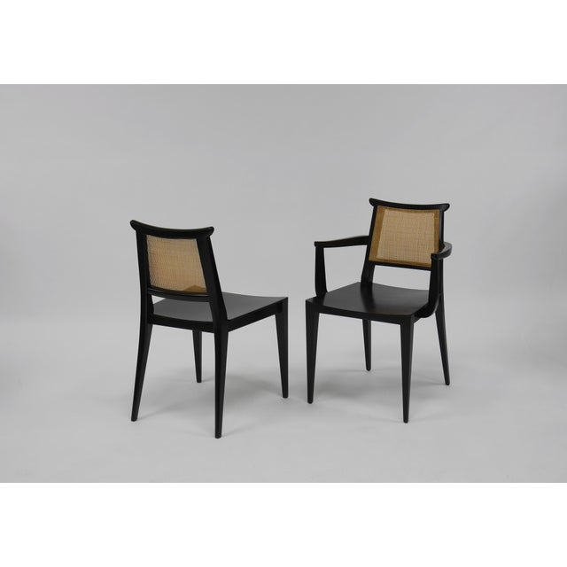 Mid-Century Modern Twelve Asian Dining Chairs by Edward Wormley for Dunbar For Sale - Image 3 of 11