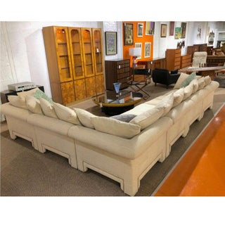 Vintage Drexel Chinoiserie Asian Modern Ivory Sectional Sofa 6-Piece Modular Preview