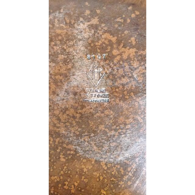 Gold Heintz Sea Grass Bronze Candlesticks - A Pair For Sale - Image 8 of 9