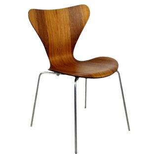 Mid Century Modern Arne Jaconbsen Fritz Hansen Danish Side Chair For Sale