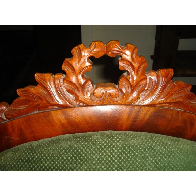 Green Velvet Serpentine Victorian Sofa - Image 5 of 6