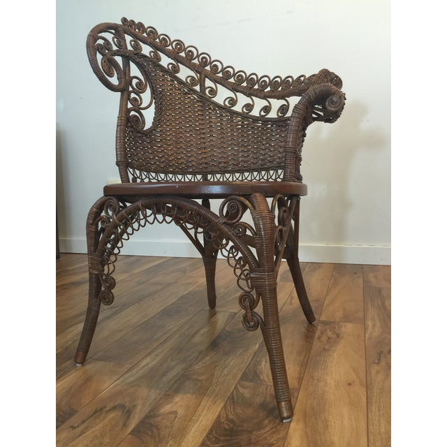 Antique Wicker Photographer's Chairs - A Pair For Sale - Image 7 of 11