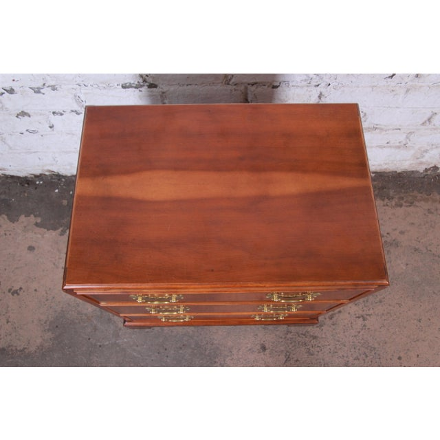 Late 20th Century Baker Furniture Chippendale Fruitwood Chest of Drawers or Commode For Sale - Image 5 of 13