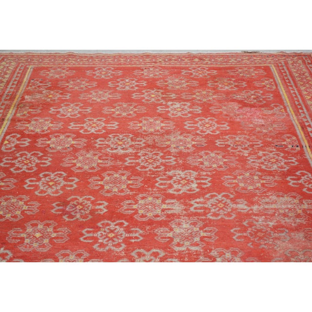 Antique khotan handmade from ancient city hotan with unique geometric pattern with natural colors.