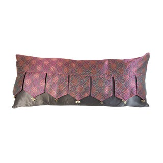 Indian Silk Valance Bolster For Sale