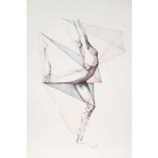 Move I, Lithograph by Helene Guetary For Sale