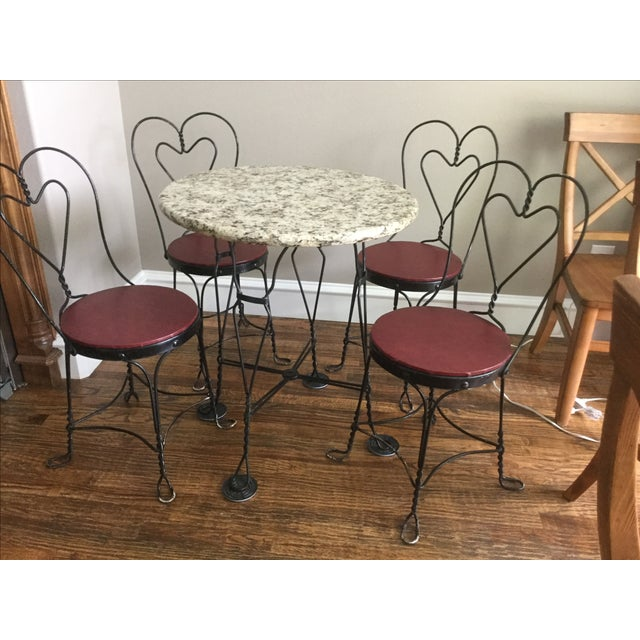 Vintage Ice Cream Parlor Dining Set - Image 7 of 7