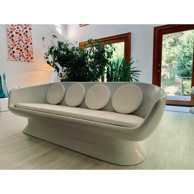 1960s Chromcraft Fiberglass Shell Sofa For Sale - Image 5 of 5