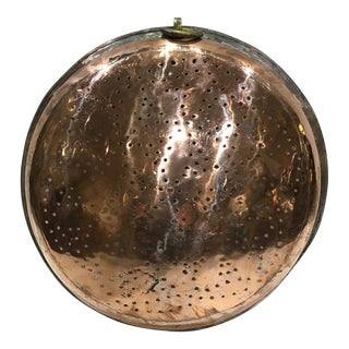 Early 20th Century French Copper Strainer For Sale