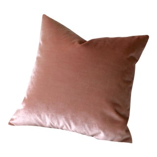 Silk Blush Velvet Pillow
