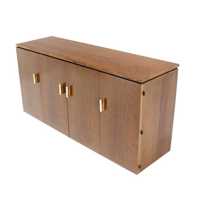 Vintage Mid Century Tiger Maple Sideboard For Sale - Image 9 of 9