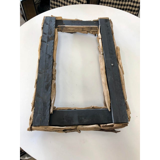 2010s Handcrafted Reclaimed Botany Bay Driftwood Frame For Sale - Image 5 of 6