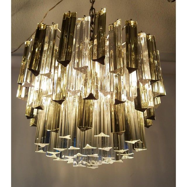 Mid-Century Modern Venini Clear & Dark Glass Chandelier For Sale - Image 11 of 11