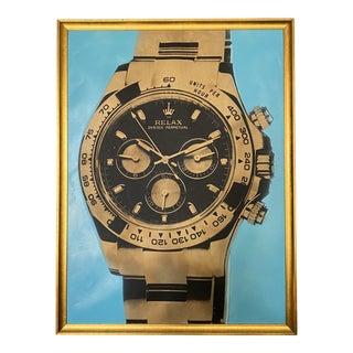 """Relax: Watch Series"" Contemporary Pop Art Style Screenprint by Max Wiedemann, Framed For Sale"