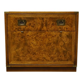"""20th Century Hickory Manufacturing Co. Burled Wood 32"""" Dry Bar Cabinet - 2510-05 For Sale"""