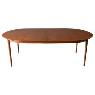 Danish Modern Oval Expandable Dining Table by Niels Moller, Circa 1960 For Sale