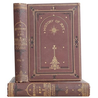 "1874 ""History of Art, v. I & Ii"" Coffee Table Book For Sale"