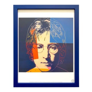 "Andy Warhol Estate Vintage 1990 Framed Pop Art Lithograph Print "" John Lennon "" 1986 For Sale"