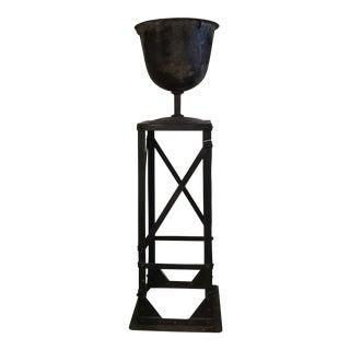 Iron Urn and Stand, Circa 1900