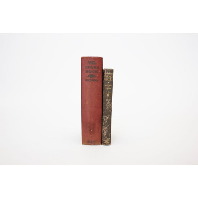 Antique Burgundy Books - A Pair - Image 2 of 9