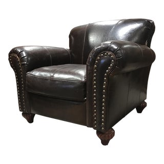 Leather Nailhead Accent Chair