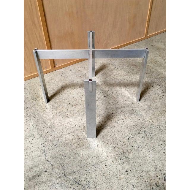 Silver Paul Mayen for Habitat Aluminum X Base Side Table For Sale - Image 8 of 9
