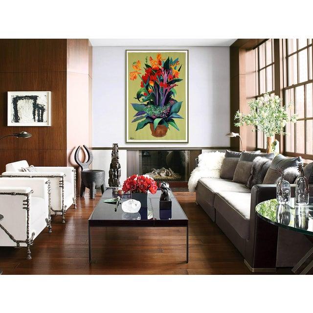 Pot De Fleurs Acrylic Painting - Image 6 of 8