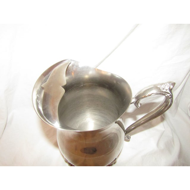 Traditional Leonard Silverplate Water Pitcher For Sale - Image 3 of 5