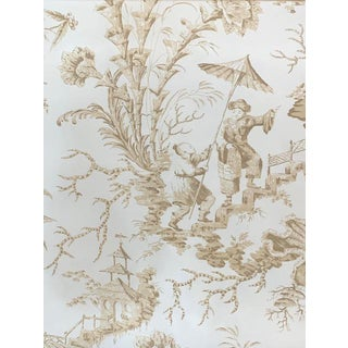 """Scalamandre Silk """"Pillement"""" Chinoiserie Toile Silk Fabric For Sale"""