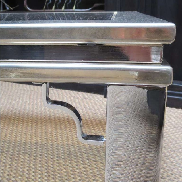 Maison Jansen Style Chrome and Glass Coffee Table - Image 5 of 5