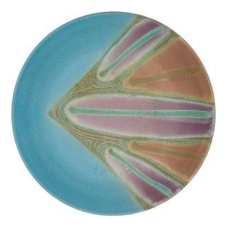 Vintage Signed Studio Pottery Platter For Sale