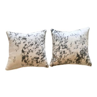 Natural Cowhide Throw Pillows - a Pair For Sale