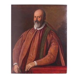 Late 19th Century Florentine Senator Carol Strozzi Portrait Painting For Sale