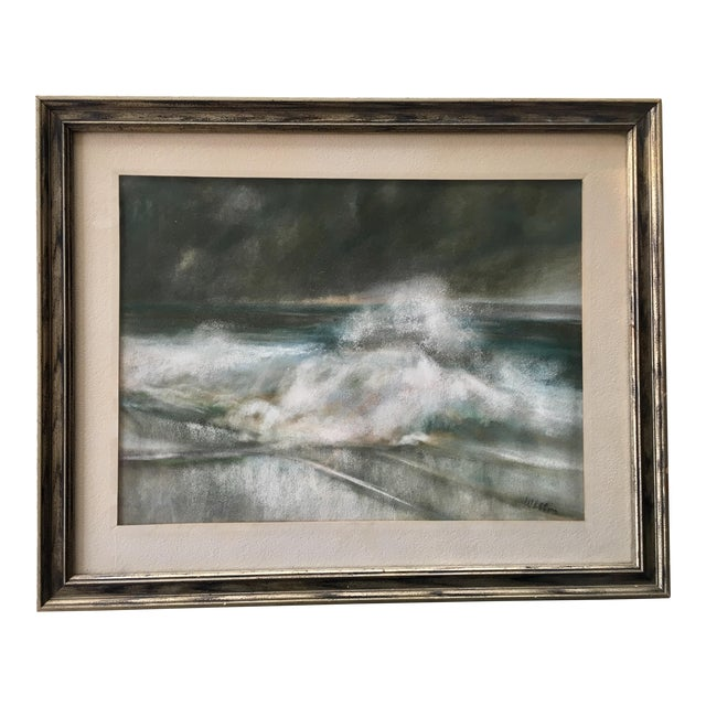 Vintage Seascape Acrylic Painting - Image 1 of 7