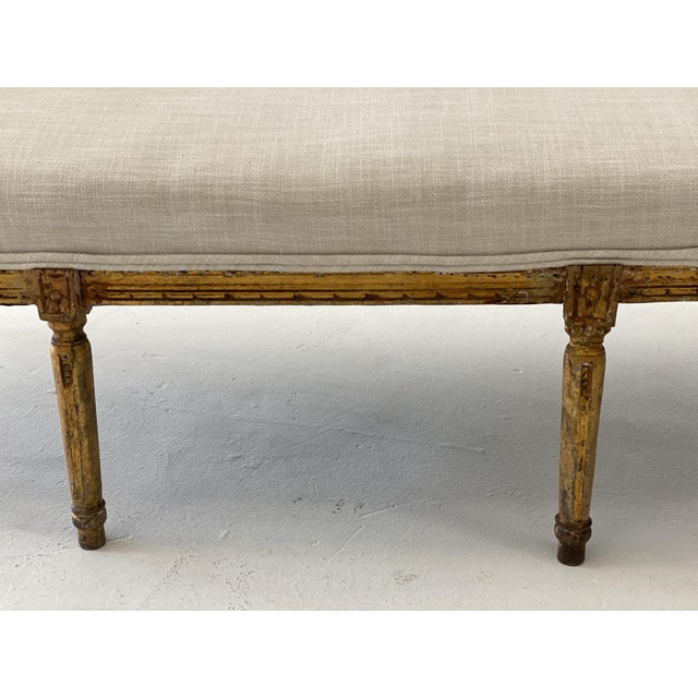 19th Century Gilt Wood Settee For Sale - Image 4 of 10